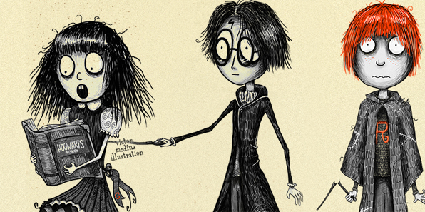 Se Tim Burton Avesse Illustrato Harry Potter Portus